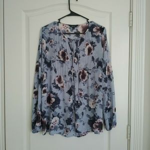 SIMPLY VERA Top Blouse M Floral Long Sleeve…